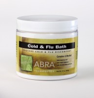 COLD AND FLU MINERAL BATH - Camphor & Menthol, Jar 17oz
