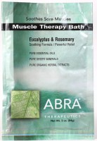 MUSCLE THERAPY MINERAL BATH - Eucalyptus & Rosemary, Packet